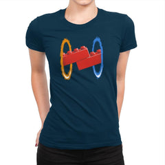 Now Your Building With Portals Exclusive - Womens Premium - T-Shirts - RIPT Apparel