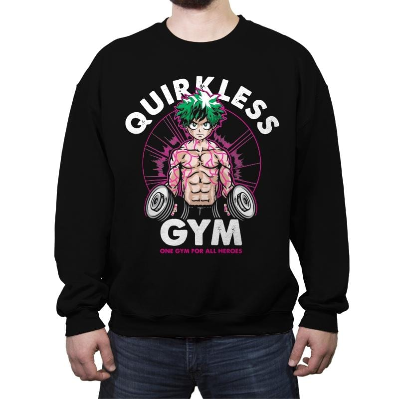 Quirkless Gym - Crew Neck Sweatshirt - Crew Neck Sweatshirt - RIPT Apparel