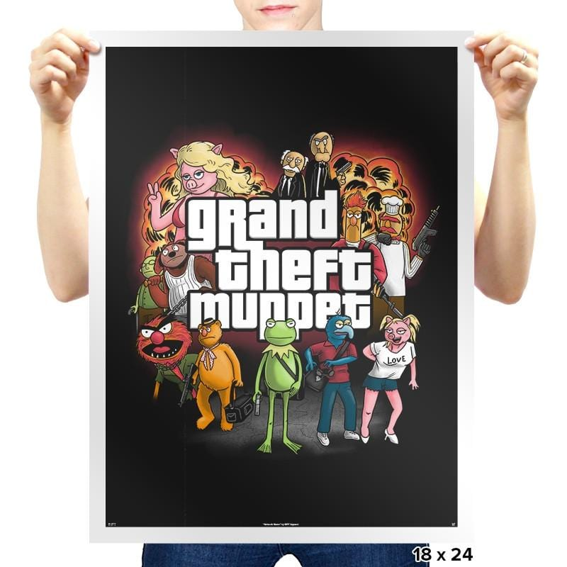 Grand Theft Muppet Exclusive - Prints - Posters - RIPT Apparel