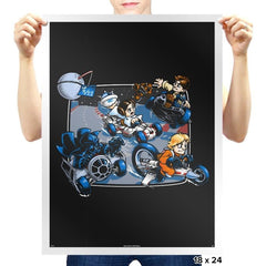 Super Kart Wars - 80s Blaarg - Prints - Posters - RIPT Apparel