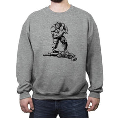 The Strongest of All Time - Crew Neck Sweatshirt - Crew Neck Sweatshirt - RIPT Apparel