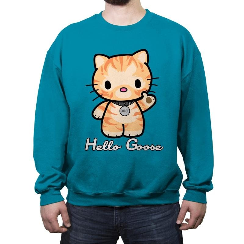 Hello Goose - Crew Neck Sweatshirt - Crew Neck Sweatshirt - RIPT Apparel