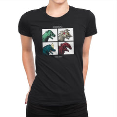 Kaiju Days REMASTERED Exclusive - Womens Premium - T-Shirts - RIPT Apparel