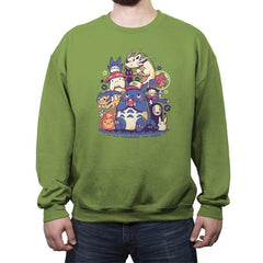 Creatures Spirits and friends - Crew Neck Sweatshirt - Crew Neck Sweatshirt - RIPT Apparel
