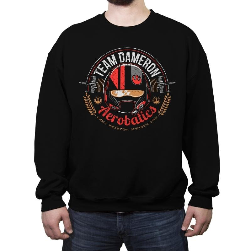Team Dameron Aerobatics - Crew Neck Sweatshirt - Crew Neck Sweatshirt - RIPT Apparel
