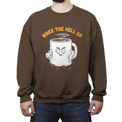 Wake Up Now! - Crew Neck Sweatshirt - Crew Neck Sweatshirt - RIPT Apparel