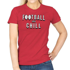 Football and Chill - Womens - T-Shirts - RIPT Apparel
