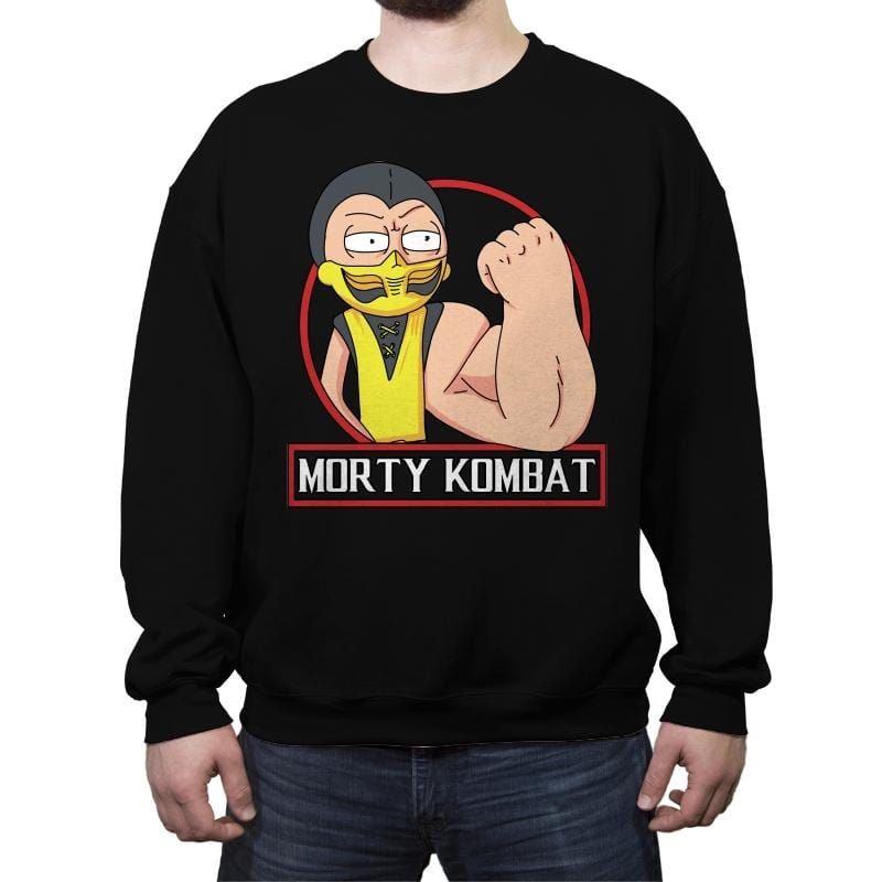 Morty Kombat - Crew Neck Sweatshirt - Crew Neck Sweatshirt - RIPT Apparel