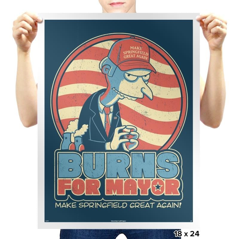 Burns for Mayor Exclusive - Prints - Posters - RIPT Apparel