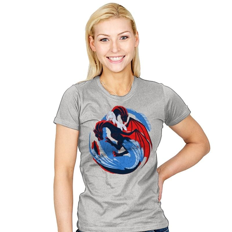 The Dragon and the Wolf - Womens - T-Shirts - RIPT Apparel