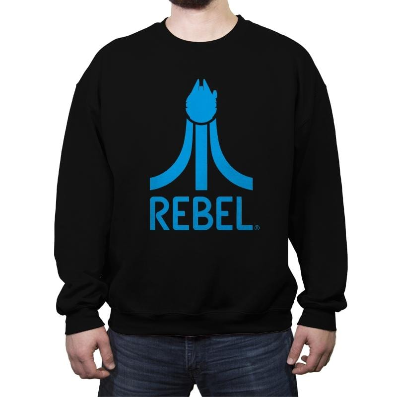 Rebel Gamer - Crew Neck Sweatshirt - Crew Neck Sweatshirt - RIPT Apparel