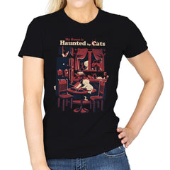 Haunted by Cats - Womens - T-Shirts - RIPT Apparel