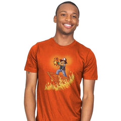 The Fire King - Pop Impressionism - Mens - T-Shirts - RIPT Apparel