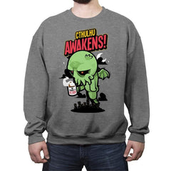 Cthulhu Awakens Again - Crew Neck Sweatshirt - Crew Neck Sweatshirt - RIPT Apparel