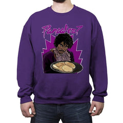 Pancakes - Anytime - Crew Neck Sweatshirt - Crew Neck Sweatshirt - RIPT Apparel