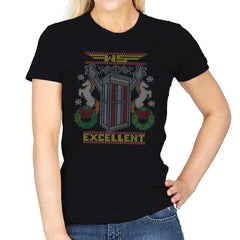 Excellent Sweater - Ugly Holiday - Womens - T-Shirts - RIPT Apparel