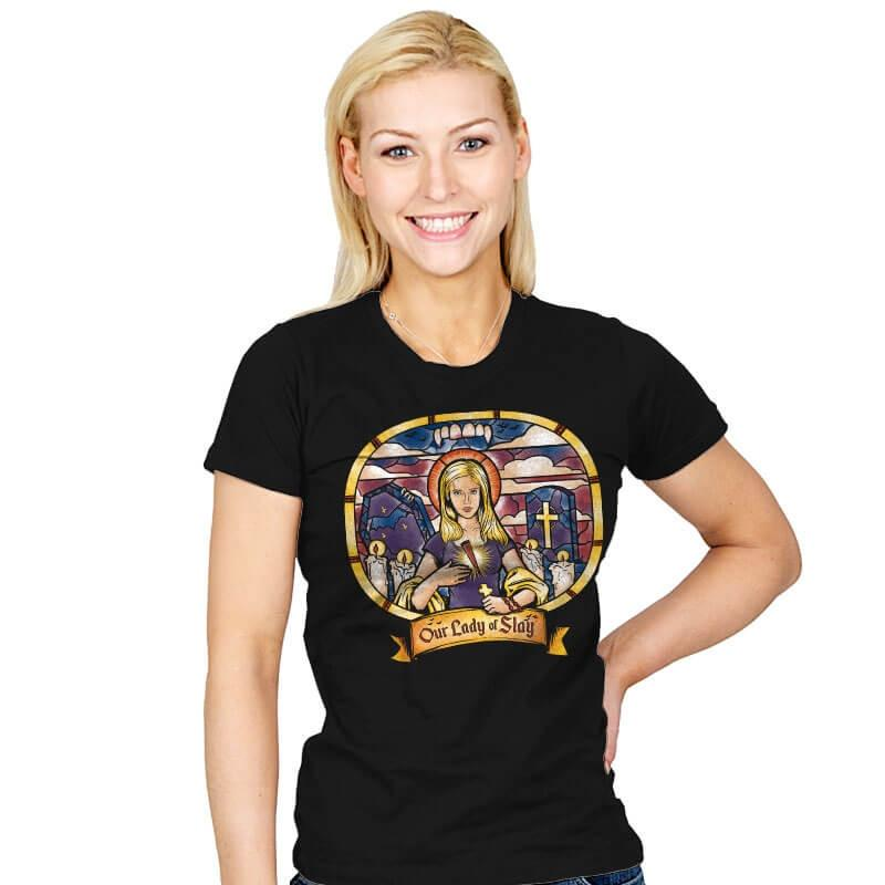 Our Lady of Slay - Womens - T-Shirts - RIPT Apparel