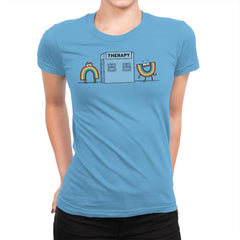 Rainbow Therapy - Womens Premium - T-Shirts - RIPT Apparel