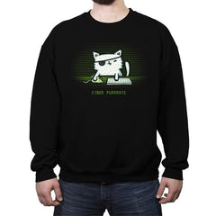 Cyber Puurate - Crew Neck Sweatshirt - Crew Neck Sweatshirt - RIPT Apparel