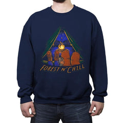 Forest And Chill - Crew Neck Sweatshirt - Crew Neck Sweatshirt - RIPT Apparel