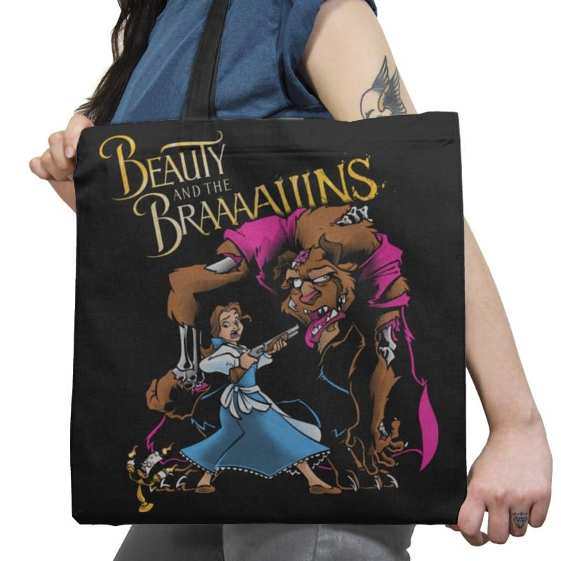Beauty and the Brains Exclusive - Tote Bag - Tote Bag - RIPT Apparel