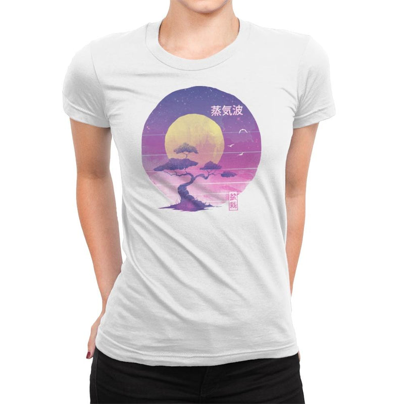 Bonsai Wave - Womens Premium - T-Shirts - RIPT Apparel