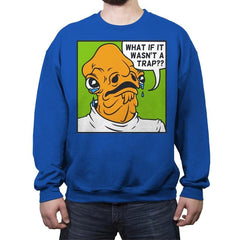 Pop Art Trap - Crew Neck Sweatshirt - Crew Neck Sweatshirt - RIPT Apparel