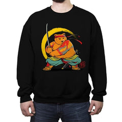 Yakuza Bear Samurai - Crew Neck Sweatshirt - Crew Neck Sweatshirt - RIPT Apparel