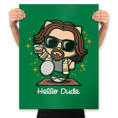 Hello Dude - Prints - Posters - RIPT Apparel