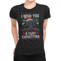 Fury Christmas - Womens Premium - T-Shirts - RIPT Apparel