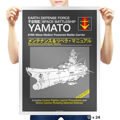 Yamato Repair Manual Exclusive - Anime History Lesson - Prints - Posters - RIPT Apparel