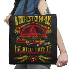 Winchester Farms Haunted Hay Ride Exclusive - Tote Bag - Tote Bag - RIPT Apparel