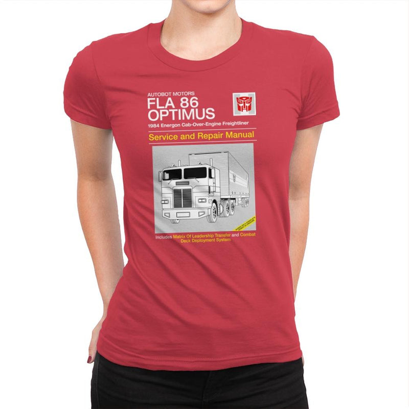 1984 Cab Repair Manual Exclusive - Shirtformers - Womens Premium - T-Shirts - RIPT Apparel