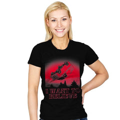 I Want To Believe Strange Things Exclusive - Womens - T-Shirts - RIPT Apparel