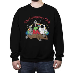 The Conspiracy Club - Crew Neck Sweatshirt - Crew Neck Sweatshirt - RIPT Apparel