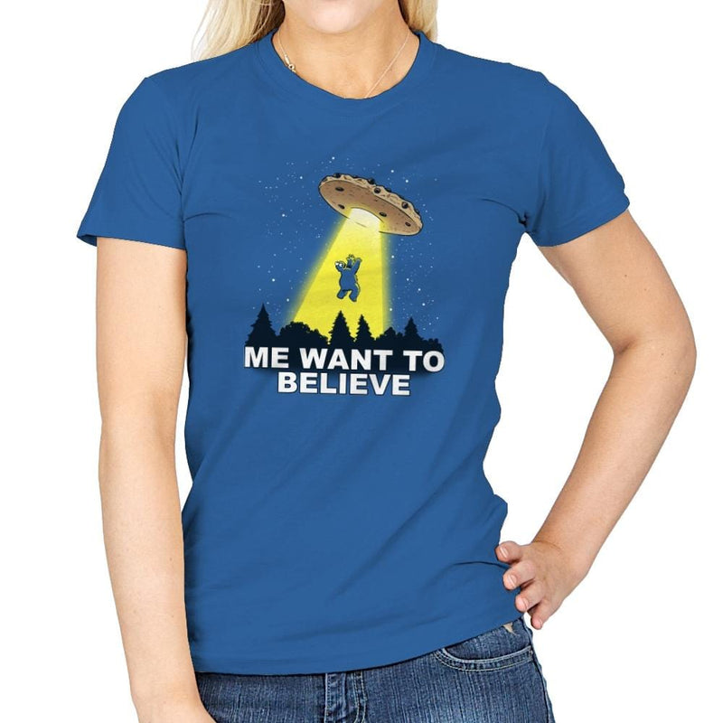 Me Want To Believe Exclusive - Womens - T-Shirts - RIPT Apparel