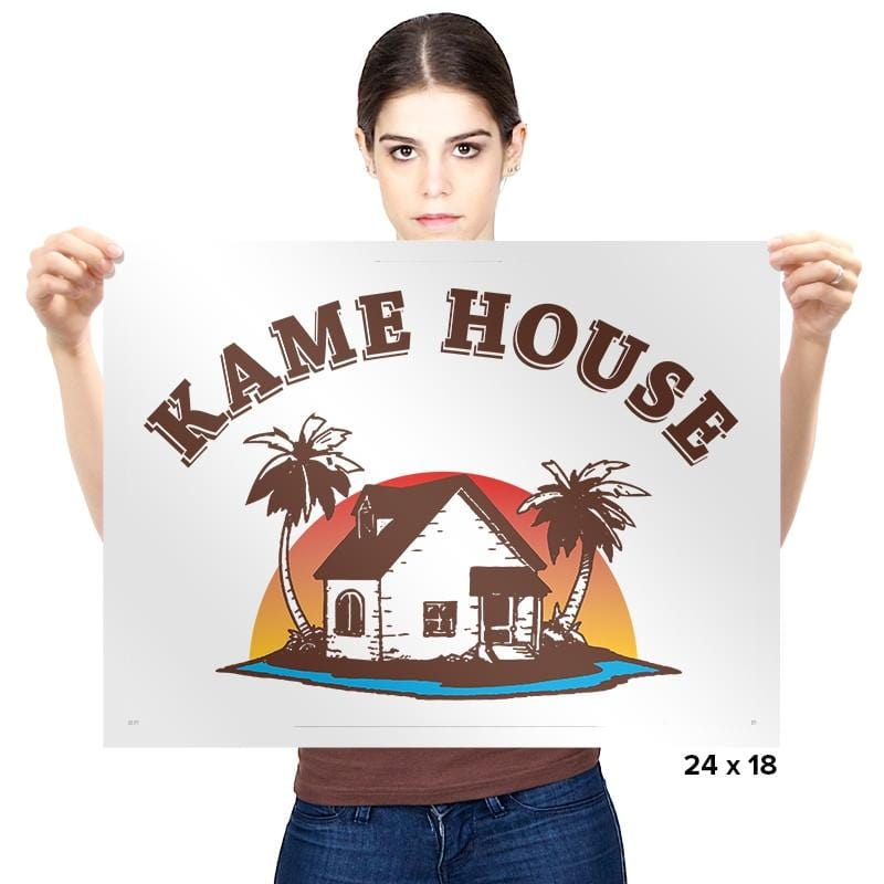 Kame House - Prints - Posters - RIPT Apparel
