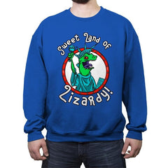Sweet land of Lizardy - Crew Neck Sweatshirt - Crew Neck Sweatshirt - RIPT Apparel