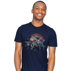 Villains Atop A Skyscraper - Mens - T-Shirts - RIPT Apparel