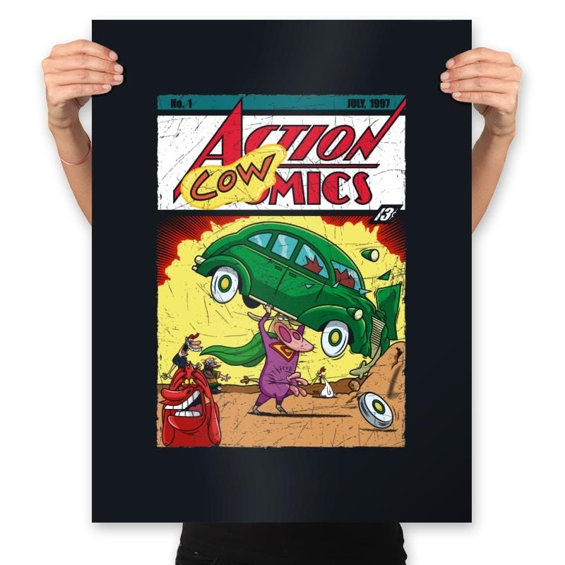 Action Cowmics - Prints - Posters - RIPT Apparel