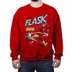 The Flask - Crew Neck Sweatshirt - Crew Neck Sweatshirt - RIPT Apparel
