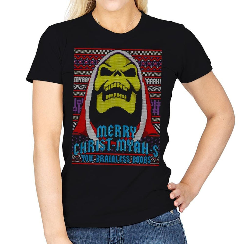 Merry Christ-Myah-s! - Ugly Holiday - Womens - T-Shirts - RIPT Apparel