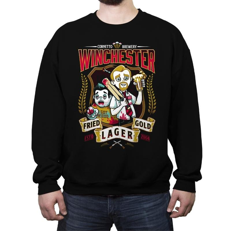 Fried Gold Lager - Crew Neck Sweatshirt - Crew Neck Sweatshirt - RIPT Apparel