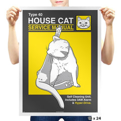House Cat Service Manual Exclusive - Prints - Posters - RIPT Apparel