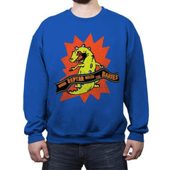 When Reptar Ruled The Babies - Crew Neck Sweatshirt - Crew Neck Sweatshirt - RIPT Apparel
