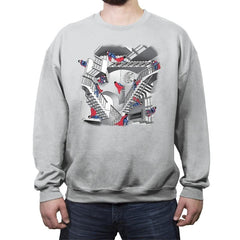 Strange Stairs - Crew Neck Sweatshirt - Crew Neck Sweatshirt - RIPT Apparel