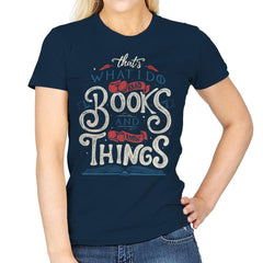 I Read Books - Womens - T-Shirts - RIPT Apparel