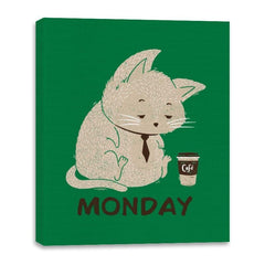 Monday Cat - Canvas Wraps - Canvas Wraps - RIPT Apparel