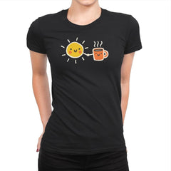 Morning Lovers - Womens Premium - T-Shirts - RIPT Apparel