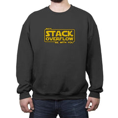 May Stack Be With You - Crew Neck Sweatshirt - Crew Neck Sweatshirt - RIPT Apparel